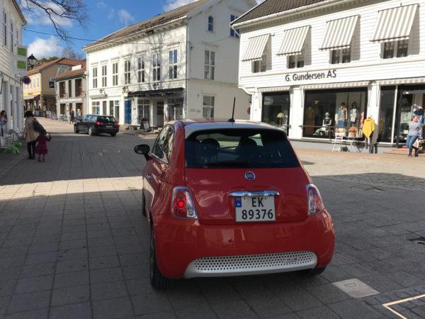 Fiat 500 electric test