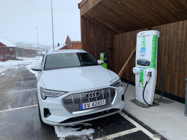 Audi e tron tur retur Grimstad Hovden på 1 dag! (mars 2019